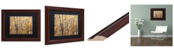 """Trademark Global Jason Shaffer 'Autumn Tree line 2' Matted Framed Art - 14"""" x 11"""""""