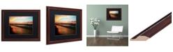 "Trademark Global Jason Shaffer 'Lakeview Sunset' Matted Framed Art - 20"" x 16"""