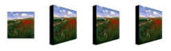 "Trademark Global Pal Szinyei Merse 'The Poppy Field' Canvas Art - 24"" x 24"""