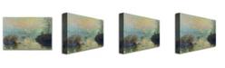 "Trademark Global Claude Monet 'Sun Setting over the Seine' Canvas Art - 32"" x 22"""