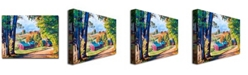 "Trademark Global David Lloyd Glover 'Road to Jenne Farm Vermont' Canvas Art - 24"" x 18"""