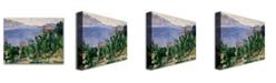 "Trademark Global Paul Cezanne 'View of Mount Marseilleveyre' Canvas Art - 47"" x 35"""