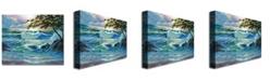 """Trademark Global David Lloyd Glover 'Matsushima Coast' Canvas Art - 32"""" x 26"""""""