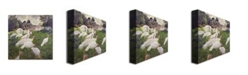 """Trademark Global Claude Monet 'The Turkeys at the Chateau' Canvas Art - 24"""" x 24"""""""