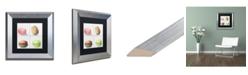 "Trademark Global Jennifer Redstreake '4 Macarons' Matted Framed Art - 11"" x 11"""