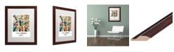 "Trademark Global Jennifer Redstreake 'Trees and Blooms' Matted Framed Art - 16"" x 20"""