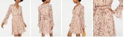 As U Wish Juniors' Animal-Print Surplice Dress