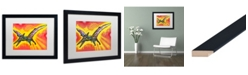"Trademark Global Dean Russo 'Pterodactyl' Matted Framed Art - 16"" x 20"""