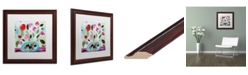 """Trademark Global Carrie Schmitt 'Winter Blooms II' Matted Framed Art - 16"""" x 16"""""""
