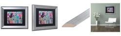 """Trademark Global Carrie Schmitt 'Cultivate Joy' Matted Framed Art - 11"""" x 14"""""""