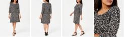 Karen Scott Petite Floral-Print Swing Dress, Created for Macy's