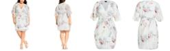 City Chic Trendy Plus Size Daydream Wrap Dress