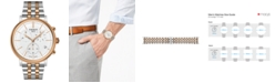 Tissot Men's Swiss Chronograph Carson Premium Two-Tone Stainless Steel Bracelet Watch 41mm