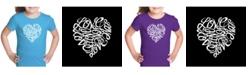 LA Pop Art Girl's Word Art T-Shirt - Love