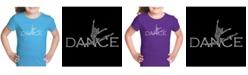 LA Pop Art Girl's Word Art T-Shirt - Dancer