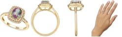 Macy's Mystic Topaz (1-3/8 ct. t.w.) & Diamond (1/4 ct. t.w.) Ring in 14k Gold