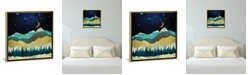 """iCanvas Snow Night by Spacefrog Designs Gallery-Wrapped Canvas Print - 37"""" x 37"""" x 0.75"""""""
