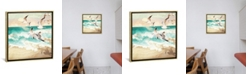 """iCanvas Summer Flight by Spacefrog Designs Gallery-Wrapped Canvas Print - 18"""" x 18"""" x 0.75"""""""