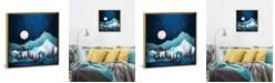 """iCanvas Moon Bay by Spacefrog Designs Gallery-Wrapped Canvas Print - 26"""" x 26"""" x 0.75"""""""