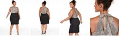 Teeze Me Trendy Plus Size Animal-Print Bodycon Dress