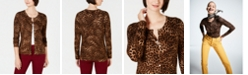 Charter Club Petite Printed Cardigan, Created for Macy's