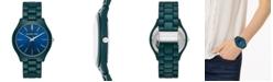 Michael Kors Women's Slim Runway Teal Stainless Steel Bracelet Watch 42mm
