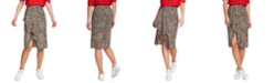 1.STATE Leopard-Print Ruffled Skirt