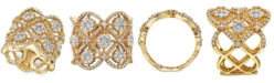 EFFY Collection EFFY® Diamond Flower Openwork Statement Ring (1-5/8 ct. t.w.) in 14k Gold