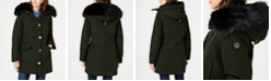 Michael Kors Faux-Fur Trim Down Parka Coat, Created for Macy's