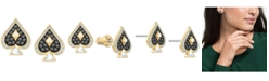 Swarovski Gold-Tone Crystal Spade Stud Earrings