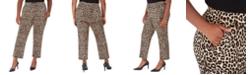Michael Kors Plus Size Animal-Print Wide-Leg Pants