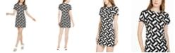 Trina Turk Optic Geo-Print Sheath Dress