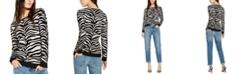 INC International Concepts INC Zebra-Print Sweater, Created for Macy's