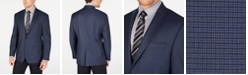 Lauren Ralph Lauren Men's Classic-Fit UltraFlex Stretch Blue Mini-Check Sport Coat