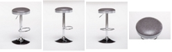Boraam Copley Collection Backless Adjustable Stool with Chrome Base