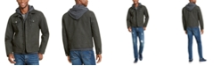 American Rag Men's Faux Leather Hooded Trucker Jacket, Created For Macy's
