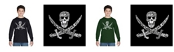 LA Pop Art Boy's Word Art Long Sleeve T-Shirt - Pirate Captains, Ships And Imagery