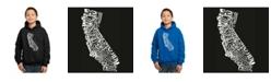 LA Pop Art Boy's Word Art Hoodies - California State