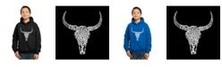 LA Pop Art Boy's Word Art Hoodies - Texas Skull