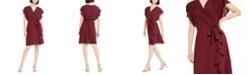 Monteau Petite Flutter Wrap Dress