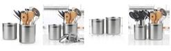 Cook N Home Stainless Steel Utensil Holder Jumbo 2-Piecec Set, Model 02639