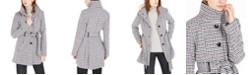 BCX Juniors' Belted Houndstooth Coat