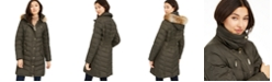 Michael Kors Faux-Fur-Trim Hooded Down Puffer Coat, Created For Macy's