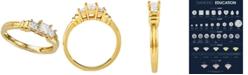 Macy's Diamond Princess Trio Diamond Engagement Ring (1/2 ct. t.w.) in 14k Gold