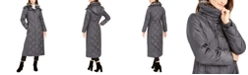 London Fog Maxi Puffer Coat With Faux-Fur Trim