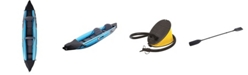 Northlight 12' Inflatable 2-Person Zray Roatan 376 Kayak Set with Paddle and Foot Pump