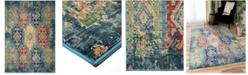 "Palmetto Living ORI422696 Alexandria Distressed Borego Medallion Light Blue 8'10"" x 13' Area Rug"