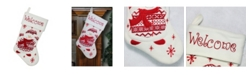 """Northlight 15.75"""" Red and White """"Welcome"""" Snowman Embroidered Christmas Stocking"""