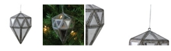"Northlight 5.5"" Mirrored Geometric Drop Christmas Ornament"