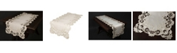 """Xia Home Fashions Scalloped Lace Embroidered Cutwork Table Runner, 15"""" x 70"""""""